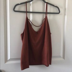 Forever 21 Suede Top - Size M